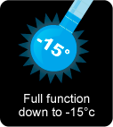 Full fuction down to -15°c