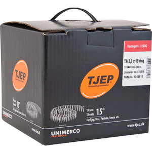 TJEP TA 30/19 pointes roofing, annelées